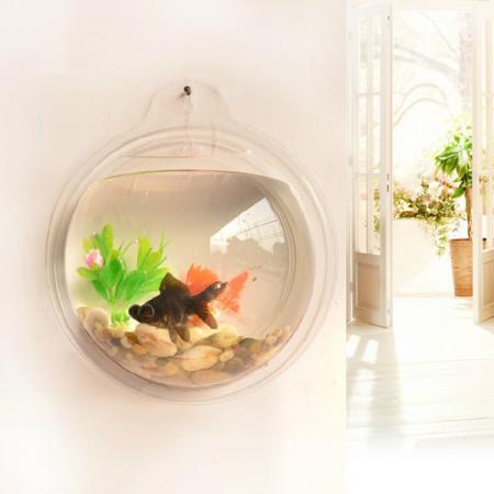 Mini Creative Acrylic Wall Hanging Small Aquarium Fish